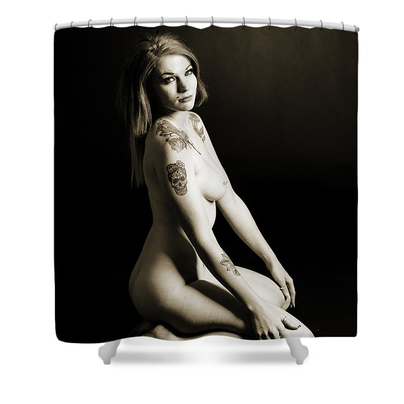 Rosie Shower Curtain featuring the photograph Rosie Nude Fine Art Print In Sensual Sexy 4629.01 by Kendree Miller