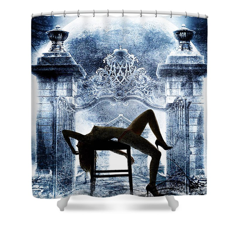 Nude Woman Shower Curtain featuring the photograph Rosie Nude Fine Art Print In Sensual Sexy Color 4688.02 by Kendree Miller