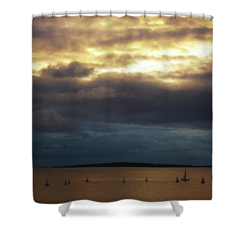 Seascape Shower Curtain featuring the photograph Rosses Point Co Sligo Ireland by Louise Macarthur Art and Photography