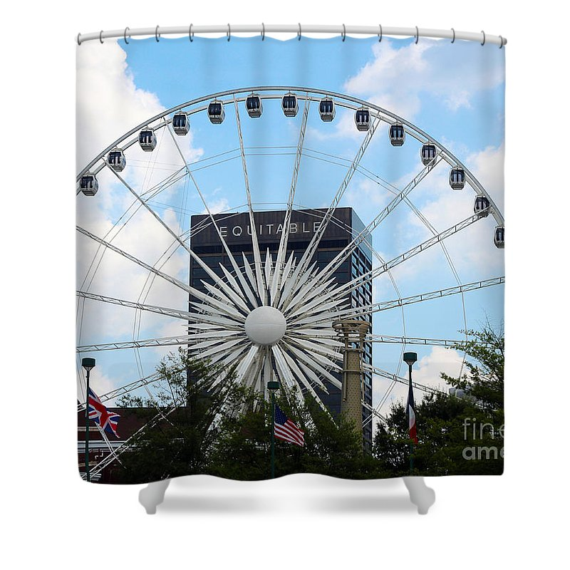 Atlanta Shower Curtain featuring the photograph Round And Round by Kelley Sims