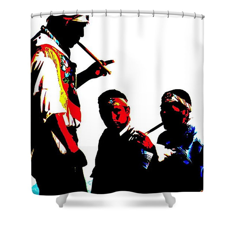 Indigenous Shower Curtain featuring the photograph Round Sounds by Kevin Gaudette