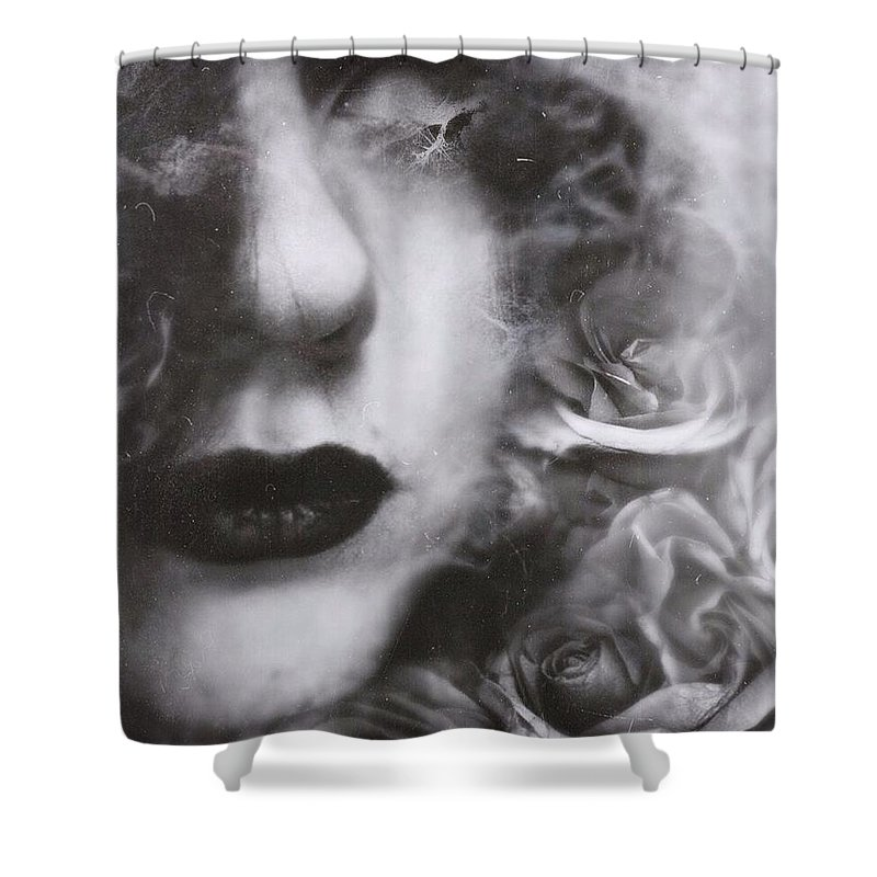 Darkart Shower Curtain featuring the photograph Rounded Soul by John Adams Emnace