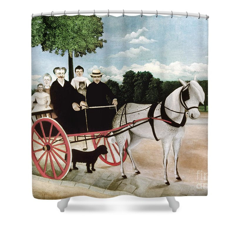 1908 Shower Curtain featuring the photograph Rousseau: Cart, 1908 by Granger