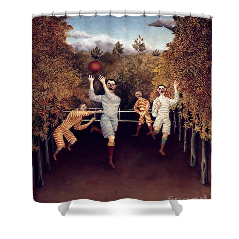 1908 Shower Curtain featuring the photograph Rousseau: Football, 1908 by Granger
