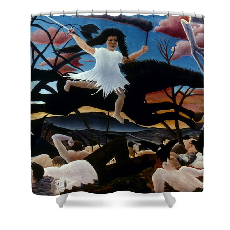 1894 Shower Curtain featuring the photograph Rousseau: War, 1894 by Granger