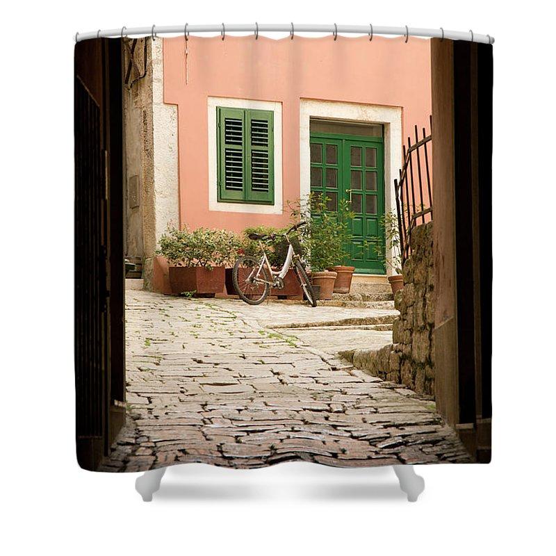 Croatia Shower Curtain featuring the photograph Rovinj by Ian Middleton