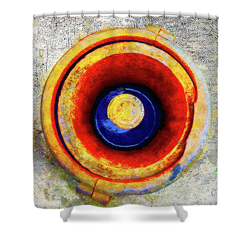 Rusty Hole Shower Curtain featuring the mixed media Royal Air Force by Tony Rubino