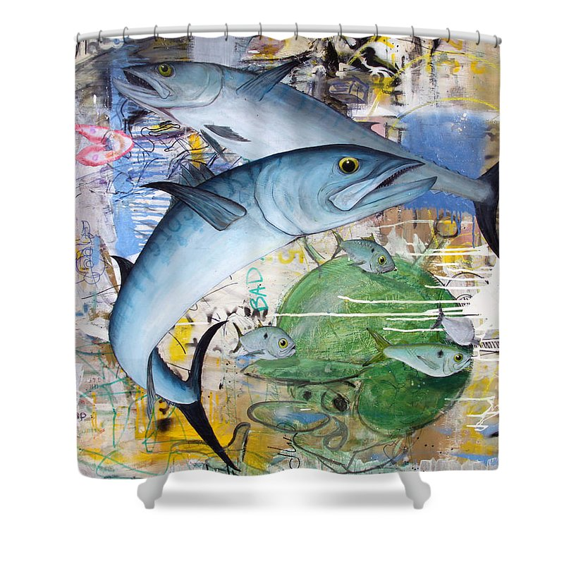 King Shower Curtain featuring the painting Royal Flush by Mutt Hubbard