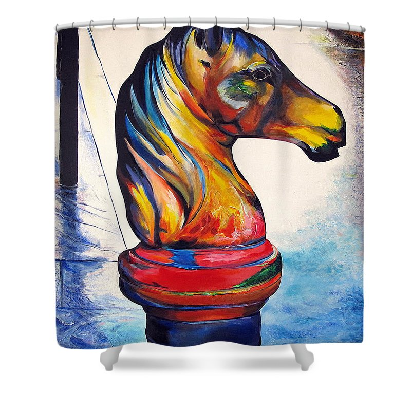 Royal Shower Curtain featuring the painting Royal Street by John Duplantis