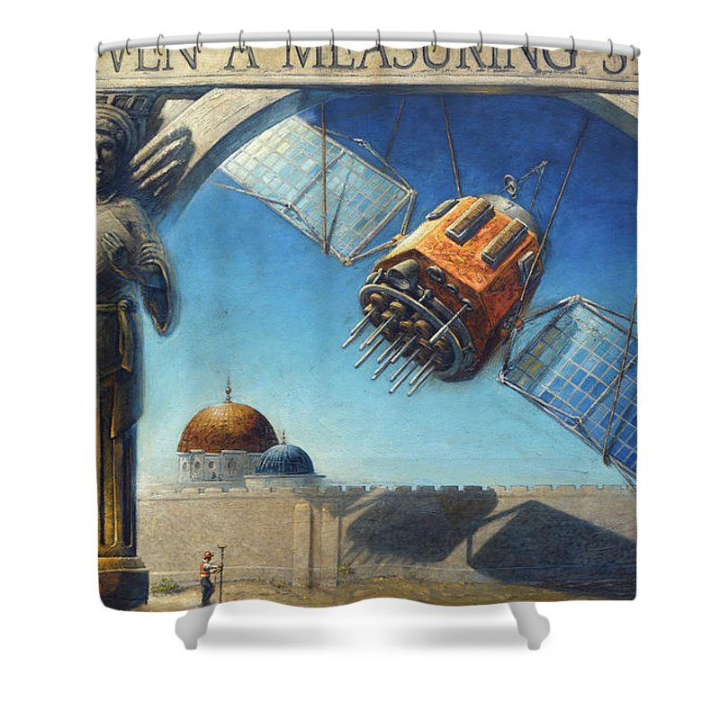 Christian Shower Curtain featuring the painting RTK by Larry Reinhart