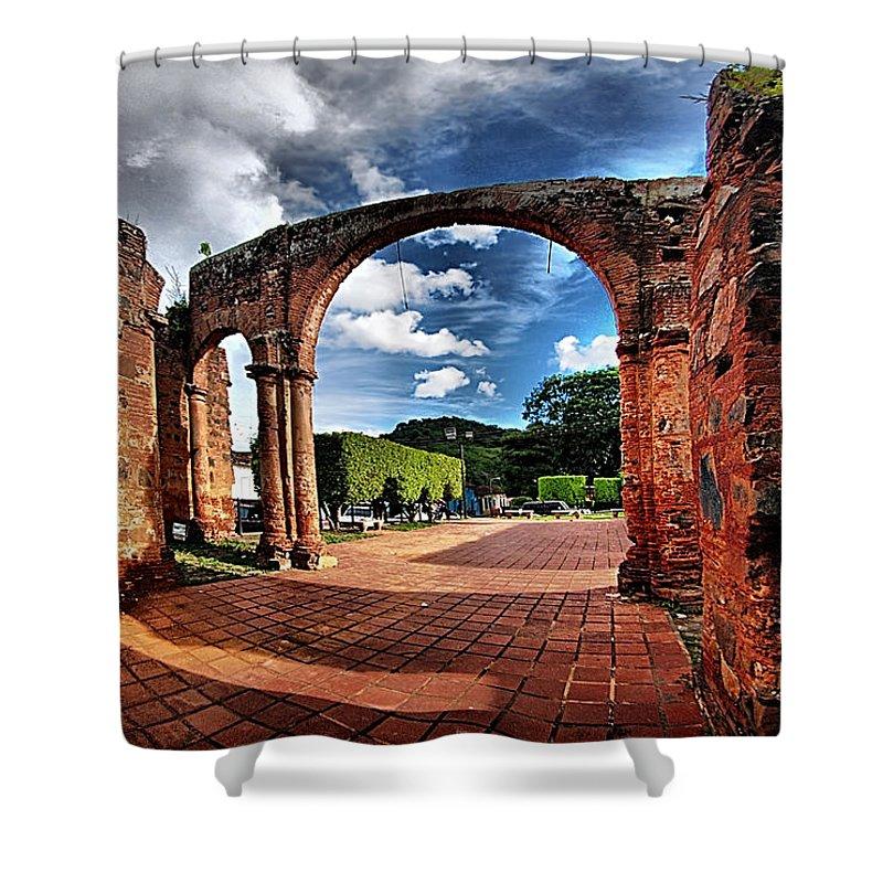 Shower Curtain featuring the photograph Ruinas En Altagracia by Galeria Trompiz