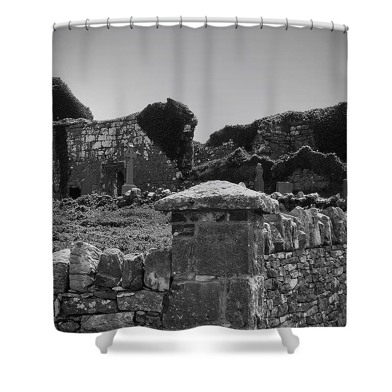 Irish Shower Curtain featuring the photograph Ruins In The Burren County Clare Ireland by Teresa Mucha