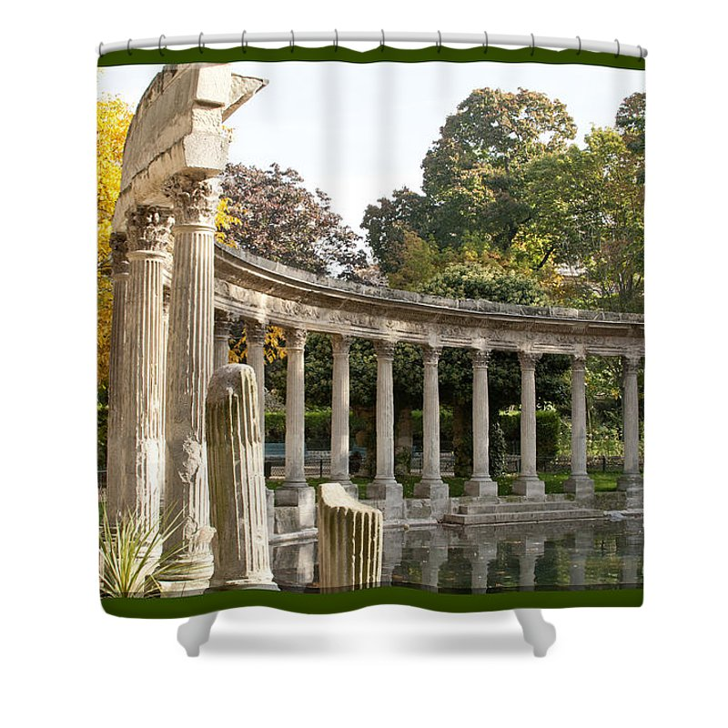 Digital Art Shower Curtain featuring the photograph Ruins In The Park by Victoria Harrington