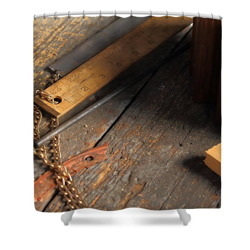 Ruler Shower Curtain featuring the photograph Rules by Pat Williams
