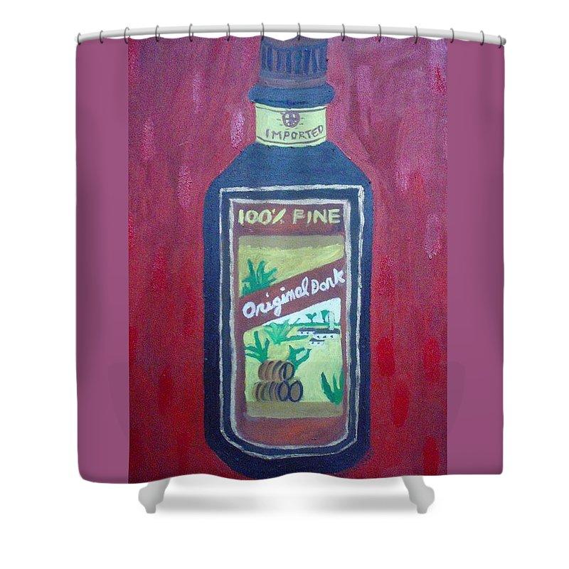 Oil On Canvas Shower Curtain featuring the painting Rum by Patrice Tullai