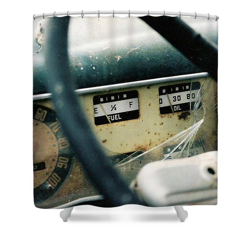 Truck Shower Curtain featuring the photograph Running On Empty by Lauri Novak