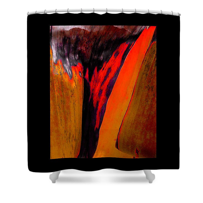 Contemporary Shower Curtain featuring the painting Running Red by Stephen Anderson