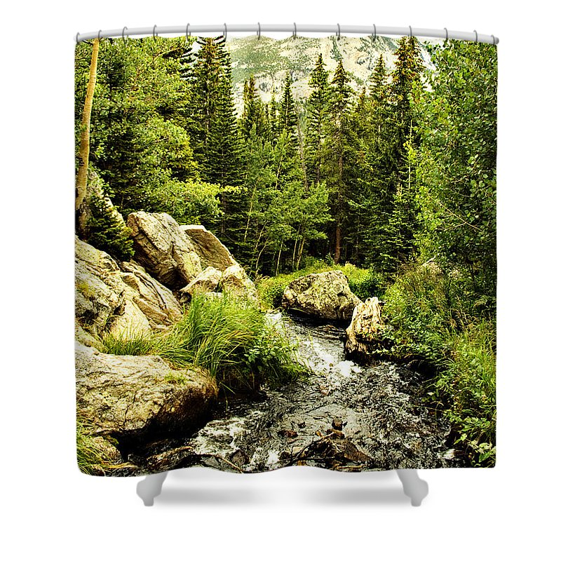 Colorado Shower Curtain featuring the photograph Running River by Marilyn Hunt