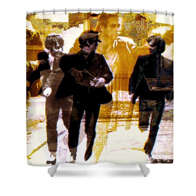 Beatles Shower Curtain featuring the photograph Running Under The Gun by Seth Weaver
