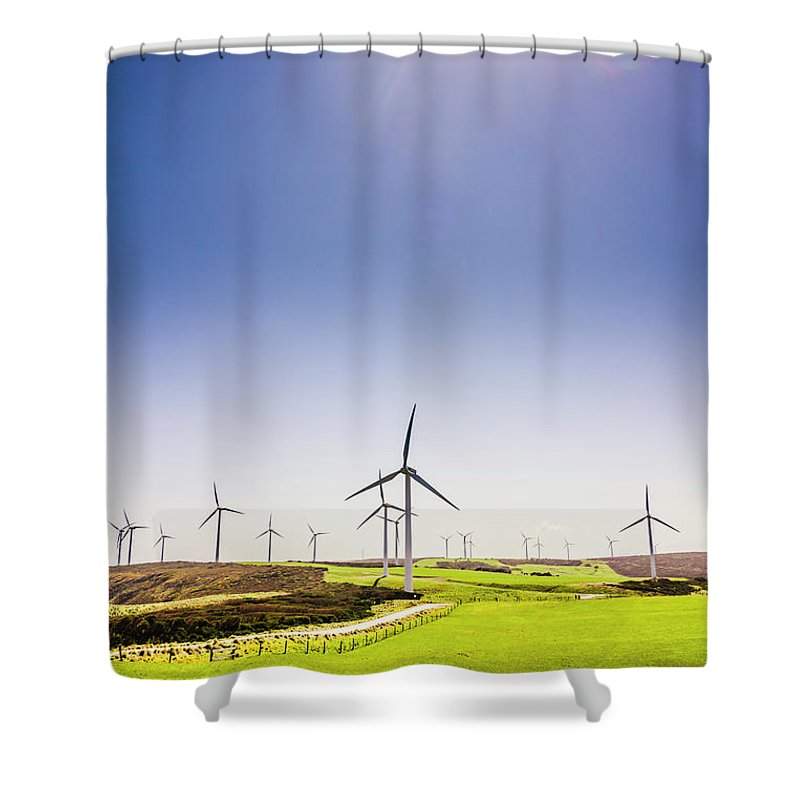 Sky Shower Curtain featuring the photograph Rural Power by Jorgo Photography - Wall Art Gallery