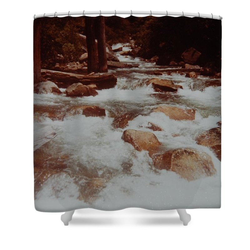 Water Shower Curtain featuring the photograph Rushing Water by Rob Hans