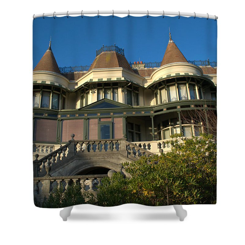 Russell Cotes Shower Curtain featuring the photograph Russell Cotes Gallery And Museum by Chris Day