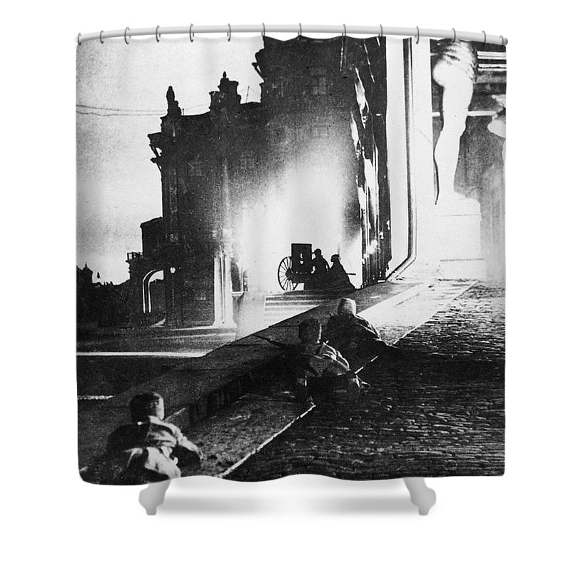 1917 Shower Curtain featuring the photograph Russian Revolution, 1917 by Granger