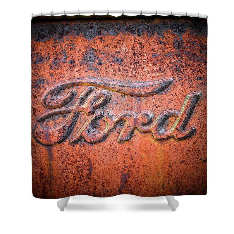 Ford Shower Curtain Featuring The Photograph Rust Never Sleeps