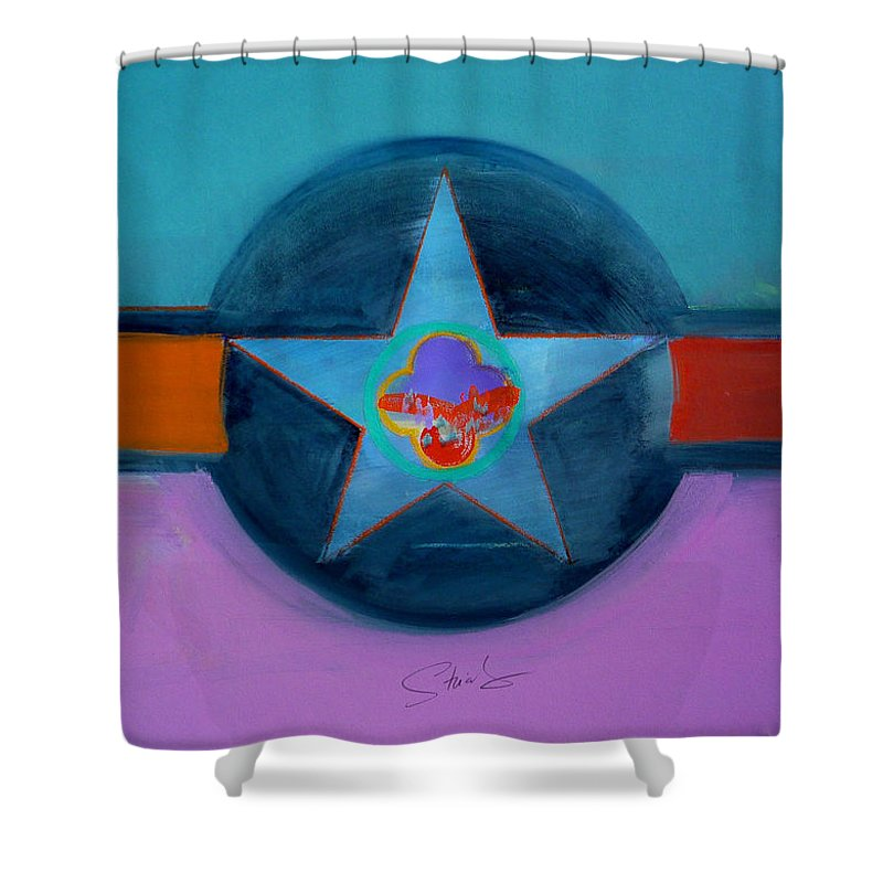 Star Shower Curtain featuring the painting Rust Or Bust by Charles Stuart