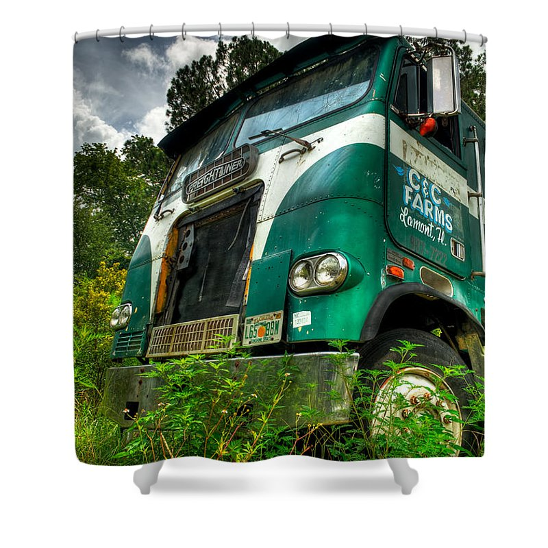 Truck Shower Curtain featuring the photograph Rusted And Busted by Rich Leighton