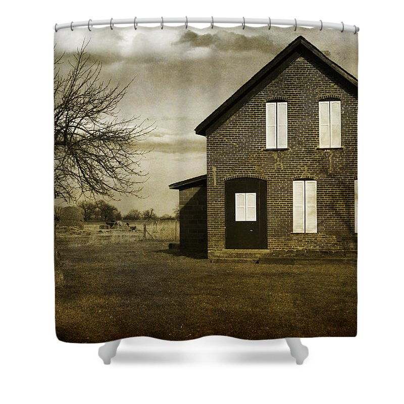House Shower Curtain featuring the photograph Rustic County Farm House by James BO Insogna