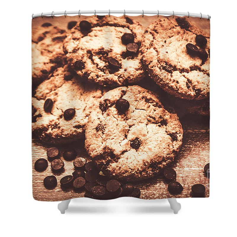 Rustic Kitchen Cookie Art Shower Curtain For Sale By Jorgo