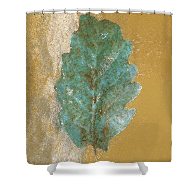 Leaves Shower Curtain featuring the photograph Rustic Leaf by Linda Sannuti