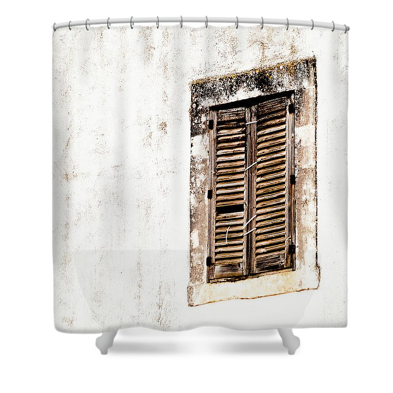 Architecture Shower Curtain featuring the photograph Finestra Rustica by Steven Myers