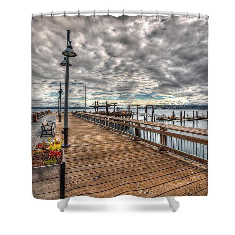 Cloud Shower Curtain featuring the photograph Ruston by Joshua Fischl