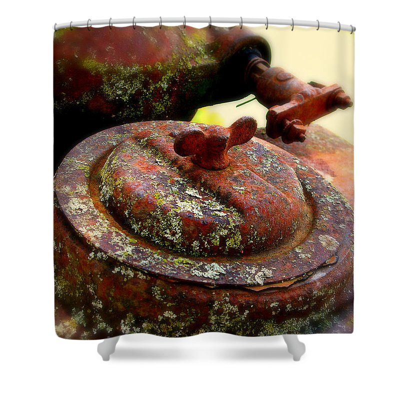 Rust Shower Curtain featuring the photograph Rusty Metal by Perry Webster