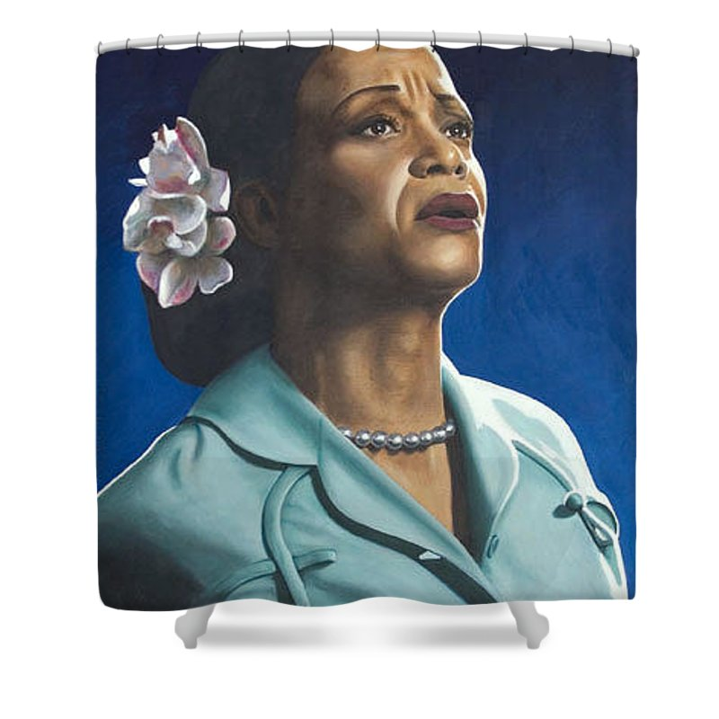 Portrait Shower Curtain featuring the painting Ruth Jacott by Rob De Vries