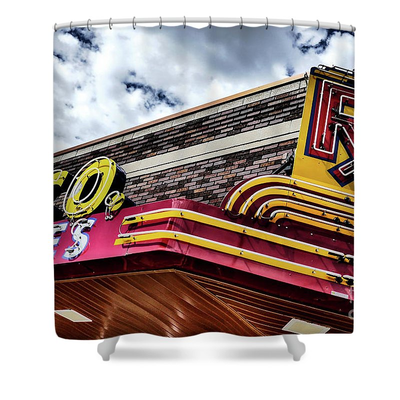 Rx Great Falls Shower Curtain featuring the photograph Rx Great Falls, Mt by Ron Taylor