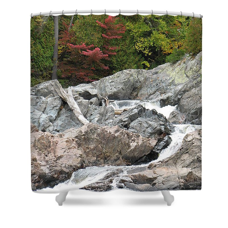 River Shower Curtain featuring the photograph S Curve by Kelly Mezzapelle