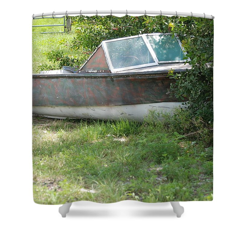 Boat Shower Curtain featuring the photograph S S Minnow by Rob Hans