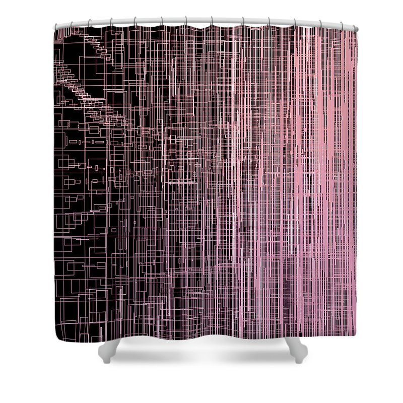 Abstract Shower Curtain featuring the digital art S.4.50 by Gareth Lewis
