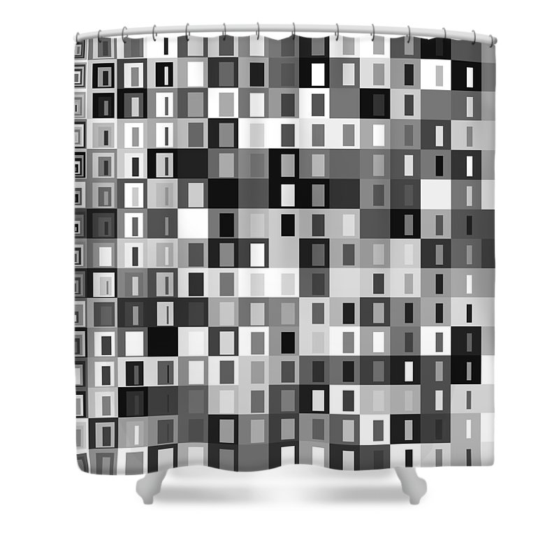 Abstract Shower Curtain featuring the digital art S.5.43 by Gareth Lewis