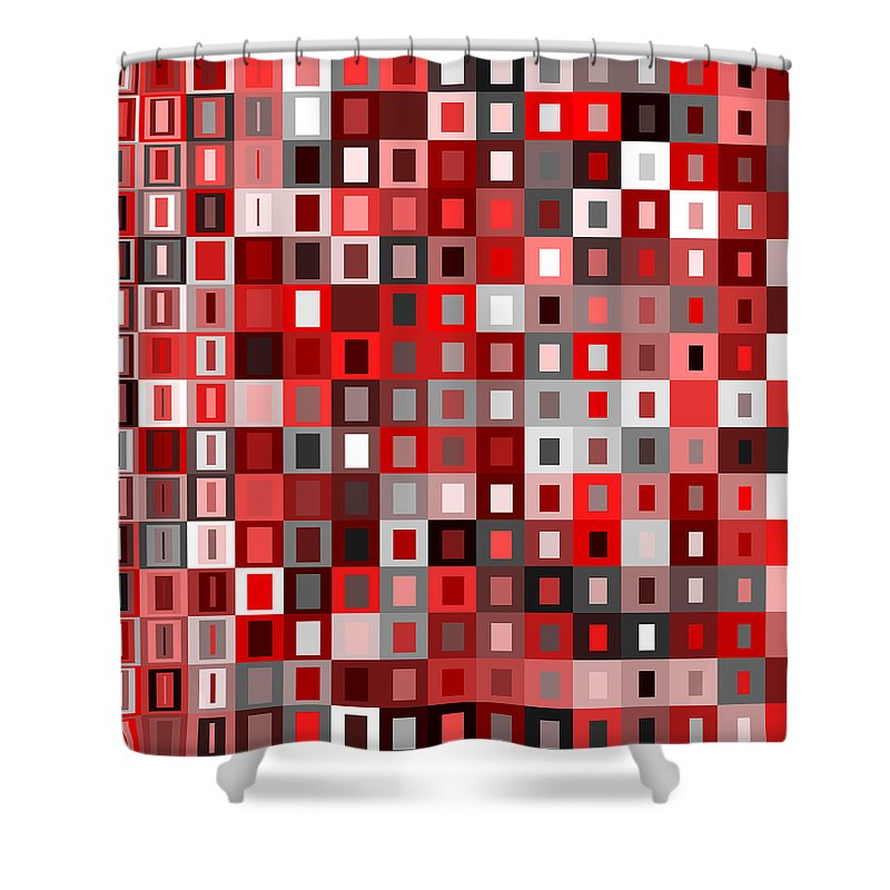 Abstract Shower Curtain featuring the digital art S.5.44 by Gareth Lewis