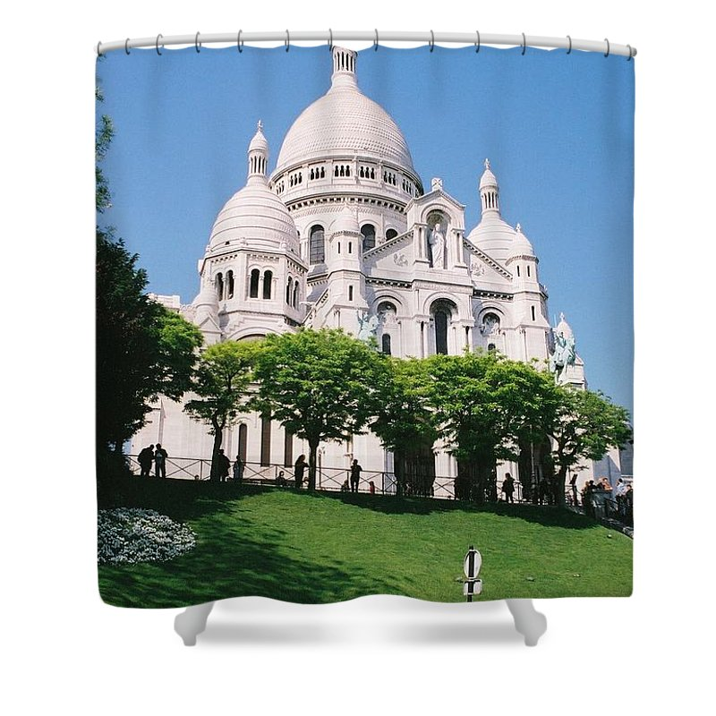 Church Shower Curtain featuring the photograph Sacre Coeur by Nadine Rippelmeyer