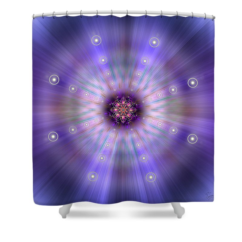 Endre Shower Curtain Featuring The Photograph Sacred Geometry 420 By Balogh