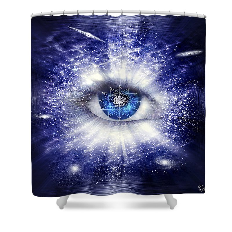 Endre Shower Curtain featuring the digital art Sacred Geometry 95 by Endre Balogh