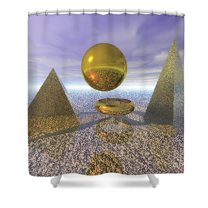 Meditation Shower Curtain featuring the digital art Sacred Geometry by Oscar Basurto Carbonell