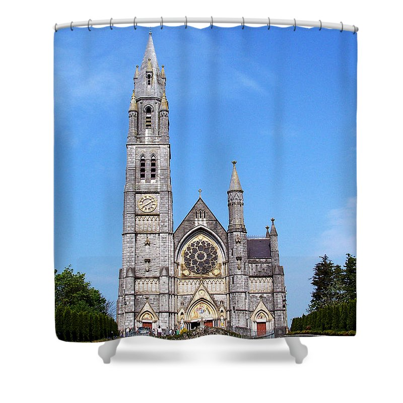 Ireland Shower Curtain featuring the photograph Sacred Heart Church Roscommon Ireland by Teresa Mucha