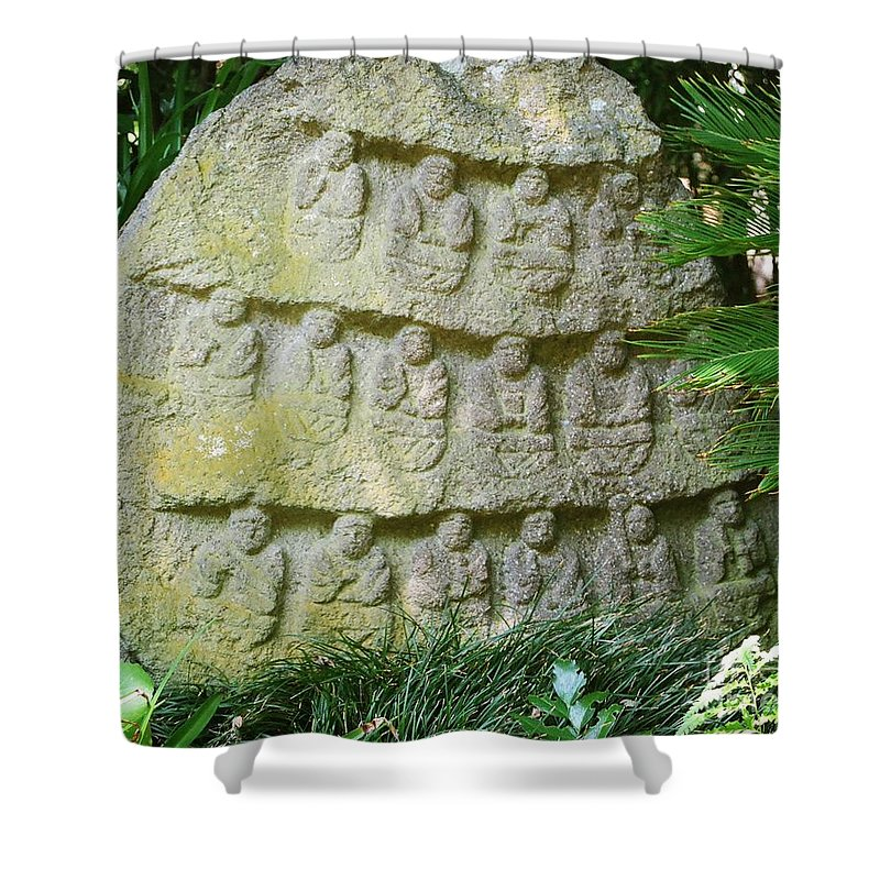 Stone Shower Curtain featuring the photograph Sacred Stone by Dean Triolo
