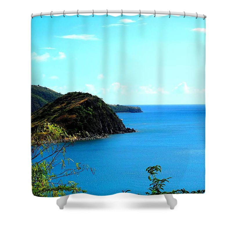 St Kitts Shower Curtain featuring the photograph Safe Harbor by Ian MacDonald